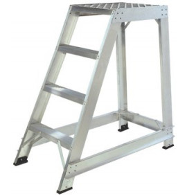 Aluminium Trade Stepladders without Handrails