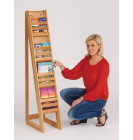 Bamboo Freestanding Literature Dispensers