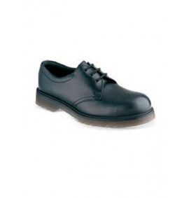 Black Lace Safety Shoe With PVC Sole