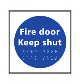Braille Fire Door Keep Shut Sign