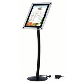 Busygrip Black Illuminated Poster Stands