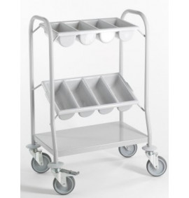 Coated Mild Steel Cutlery Trolley