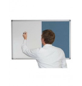 Combination Whiteboards - Corded Hessian Magnetic / Fabric