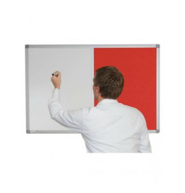 Combination Whiteboards - Corded Hessian Non Magnetic / Fabric