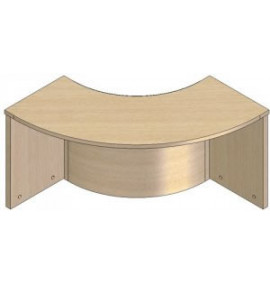 Concave Radius Counter Tops - PRCTCR12