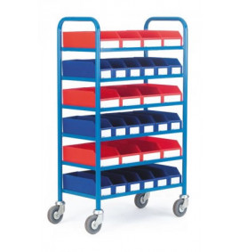6 Shelf Container Trolley - CT230Y