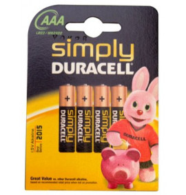 Duracell AAA Alkaline RePack MN2400 Batteries Pack of 4