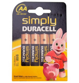 Duracell AA Alkaline RePack MN1500 Batteries Pack of 4