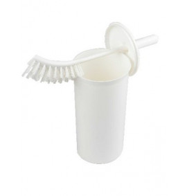 Enclosed Toilet Brush & Holder