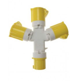 Faithfull 3 Way Splitter 110 Volt