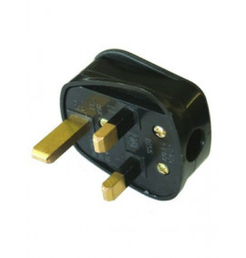 Faithfull Black Rubberised Plug 230 Volt