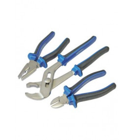 Faithfull Chrome Vanadium Soft Grip Pliers Set of 3