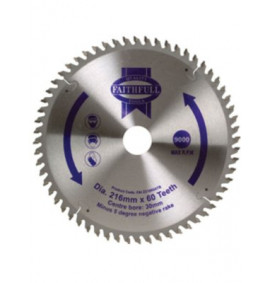 Faithfull Circular Saw Blade 216mm NEG