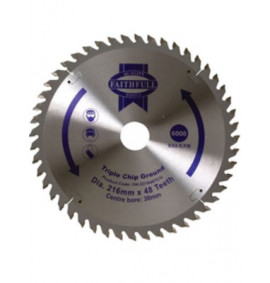 Faithfull Circular Saw Blade 216mm TCG NEG