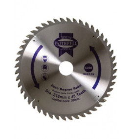 Faithfull Circular Saw Blade 216mm Zero Degree