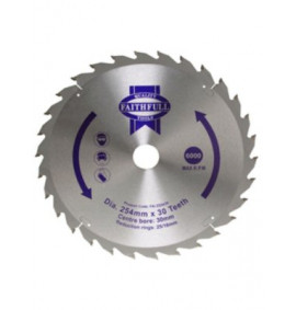 Faithfull Circular Saw Blade 250mm Fast Rip