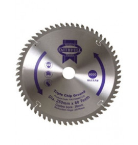 Faithfull Circular Saw Blade 250mm Fine Finish