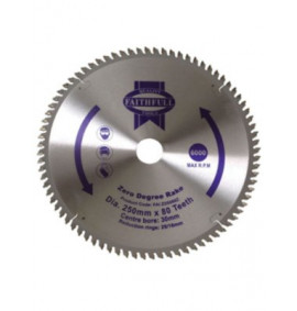 Faithfull Circular Saw Blade 250mm Zero Degrees