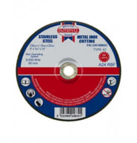 Faithfull Cut Off Disc Depressed Centre 230 x 1.8 x 22mm
