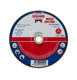 Faithfull Cut Off Disc Depressed Centre 230 x 3.2 x 22mm