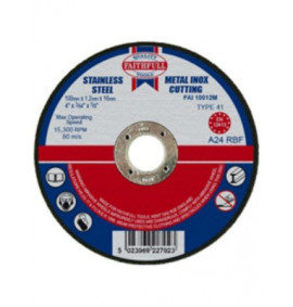 Faithfull Cut Off Disc for Metal - FAI10012M
