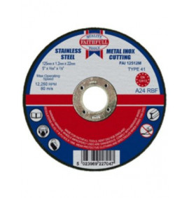 Faithfull Cut Off Disc for Metal - FAI12512M