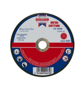 Faithfull Cut Off Disc for Metal - FAI1803M
