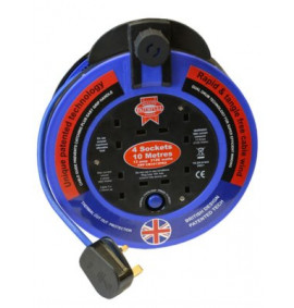 Faithfull Fast Rewind 4 Socket Cable Reel