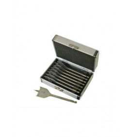 Faithfull Flat Bit Set 8 Piece in Aluminium Case