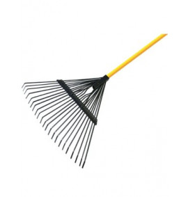 Faithfull Flexo Leaf Rake - Fibreglass Shaft 22 Tine