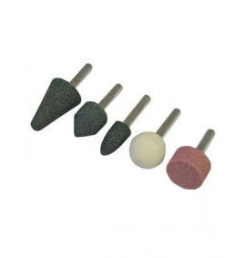 Faithfull Mounted Stones (Grinding) Set of 5