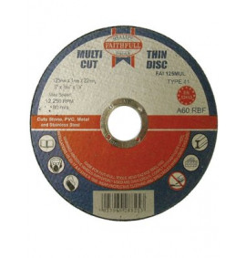 Faithfull Multi Cut Thin Cut Off Wheel 100mm