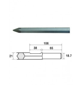 Faithfull Point 450mm Kango Shank (914113)