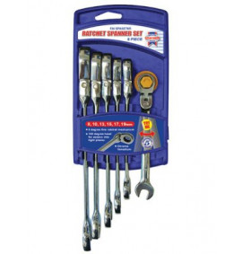 Faithfull Ratchet Combination Spanner Flex Head Set of 6