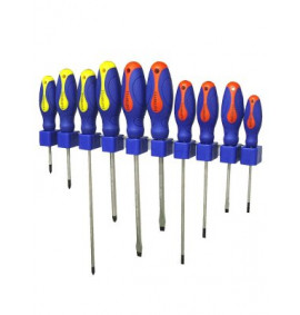Faithfull Screwdriver Soft Grip Set of 10