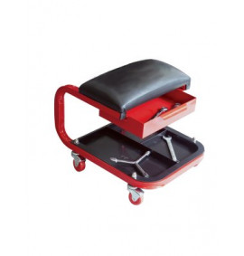 Faithfull Seat On Wheels C/W Tray & Drawer - FAIAUSEAT