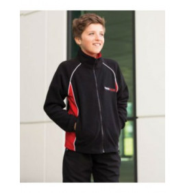 Finden & Hales Kids Contrast Micro Fleece Jacket