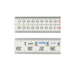 Fisco XFB1ME White Nylon Rule 1 Metre / 39in