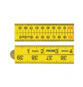 Fisco XFY1ME Yellow ABS Nylon Rule 1 Metre / 39in