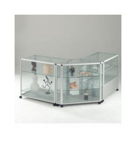 Glazed Counter Aluminium Display Cases