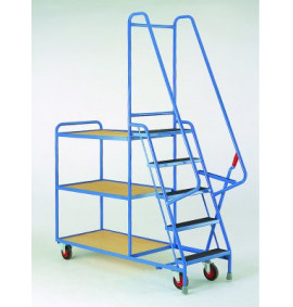 Heavy Duty 5 Step Tray Trolleys