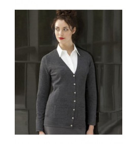 Henbury Ladies V Neck Cardigan