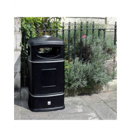 Heritage Square Hooded Litter Bin