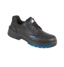 Himalayan Black Leather HyGrip 4 Eyelet Shoe