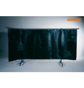 Kemper 3-Panel Mobile Protection Screen With Welding Strip Curtain