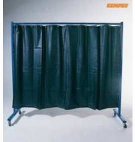 Kemper 1-Panel Mobile Protection Screen With Welding Strip Curtain