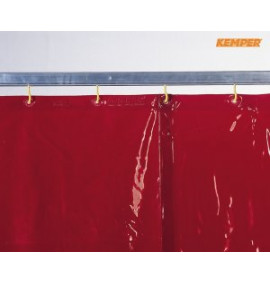Kemper Welding Curtains - Red