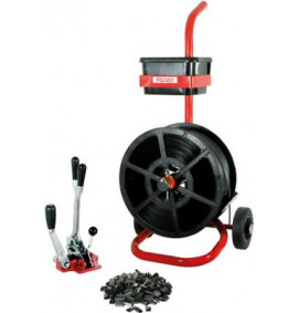 Kit 6 Combination Tensioner/Crimper & Mobile Dispenser with 12mm Strap & Seals - STRKIT-6