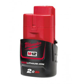Milwaukee M12 M12B2 REDLITHIUM-ION Battery 12 Volt 2.0Ah Li-Ion