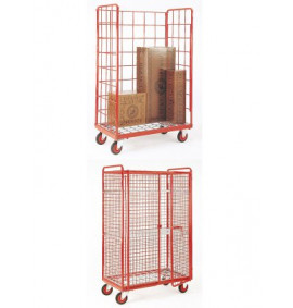 Narrow Aisle Shelf Trolley with Rod Base